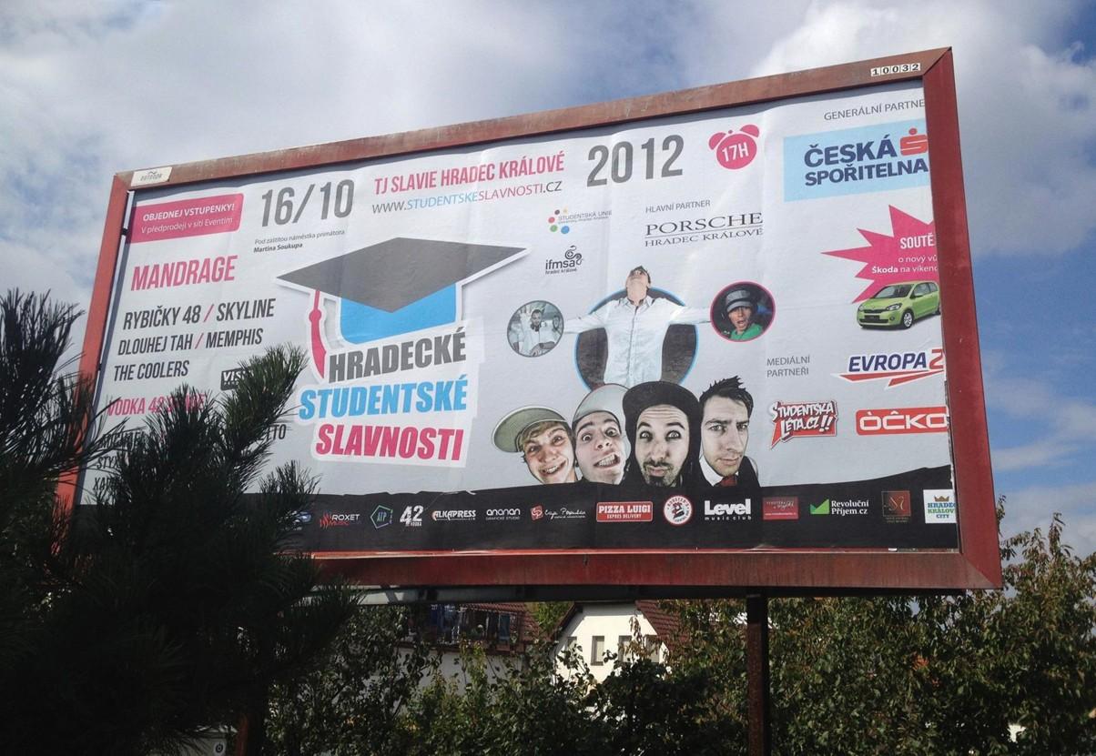 Billboard - Hradecké studentské slavnosti