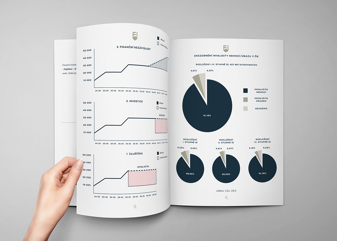 Ukázka brožury pro Finanční Institut
