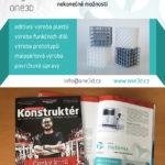 Inzerát pro One3D ve strojírenském časopise Konstruktér