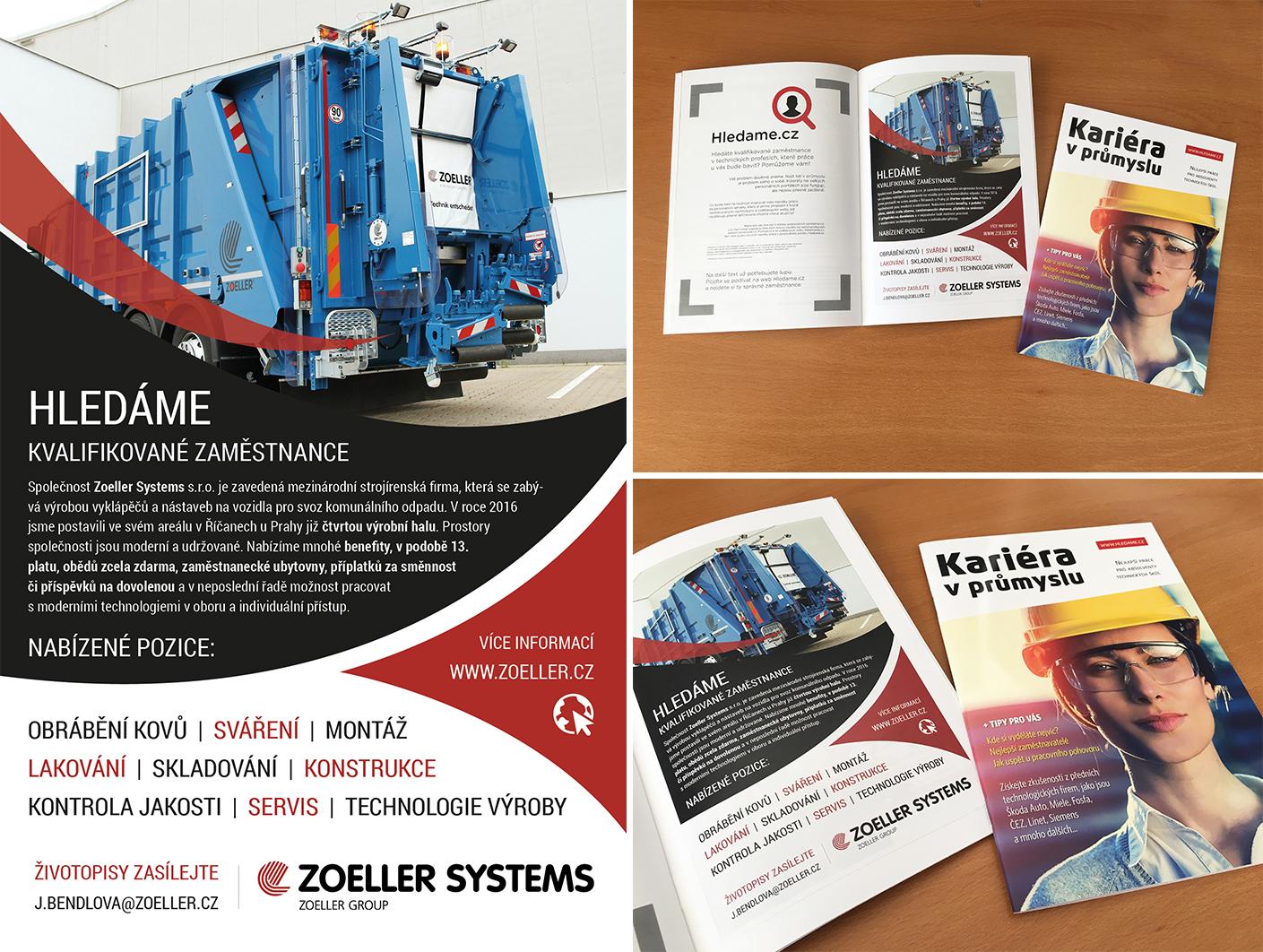 Inzerát pro Zoeller v publikaci Kariéra v průmyslu