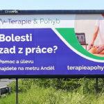 Billboard - Terapie & Pohyb - Praha